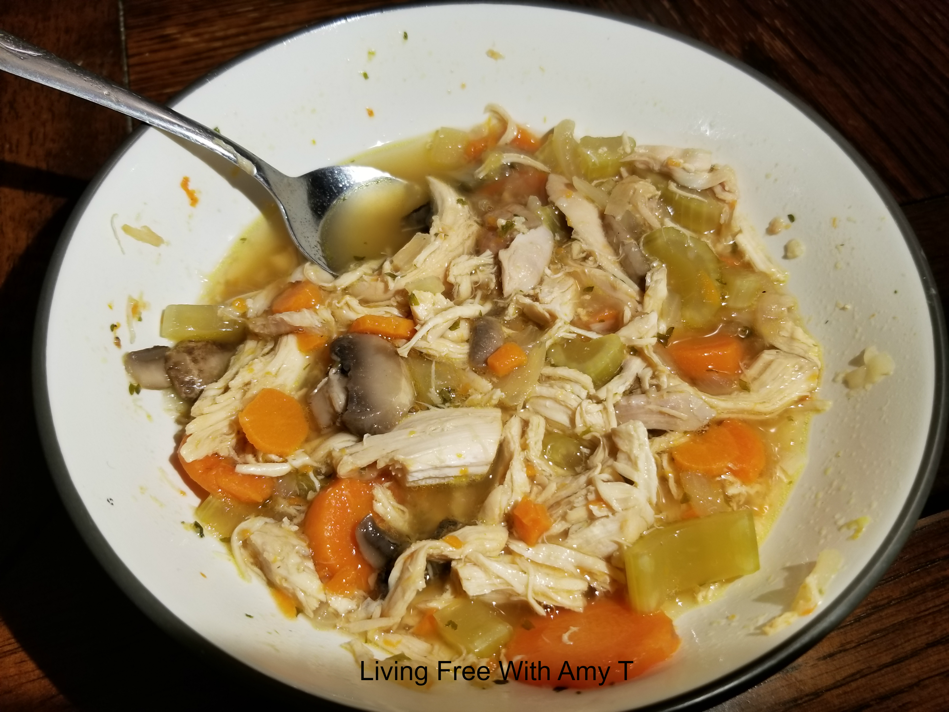 Super easy and budget-friendly chicken and vegetable soup