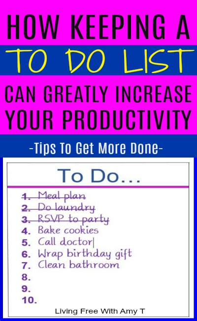 How Keeping A To Do List Can Make You A Lot More Productive