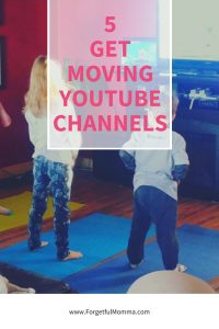 get moving YouTube channels for kids - indoor activities for kids