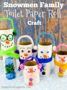 Snowmen Family Toilet Paper Rolls