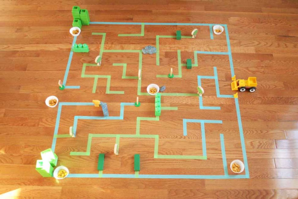 giant floor maze - indoor activities for kids
