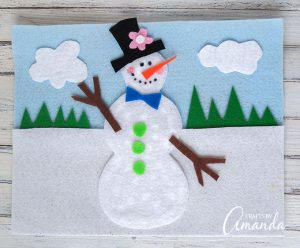 snowman felt board - indoor activities for kids