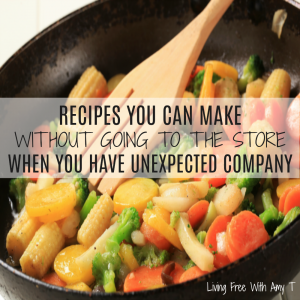 Quick And Easy Recipes You Can Make For Unexpected Company Without Going To The Store